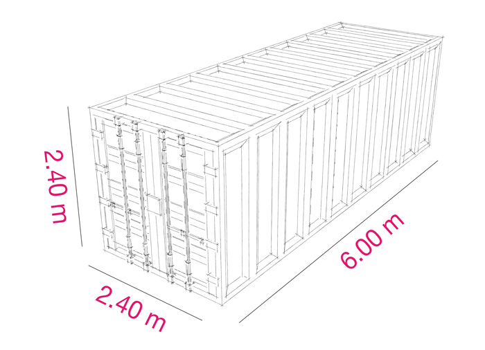 """Loca Box : Location de boxes d'entreposage type contener 20"""" à Geneve"""